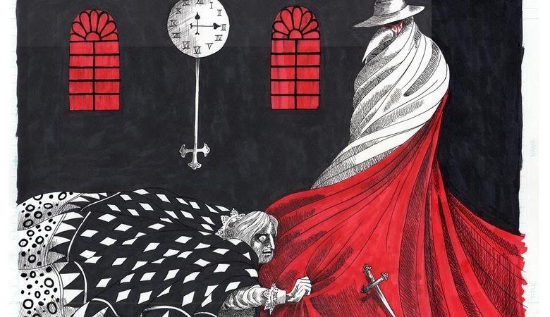 Эдгар Аллан По: Кызыл жаян жан алгычтын беткабы (конкурска №18)